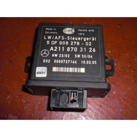 HEADLIGHT UNIT OEM N.  ORIGINAL PART ESED MERCEDES CLASSE E W211 BER/SW (03/2002 - 05/2006) DIESEL 27  YEAR OF CONSTRUCTION 2006